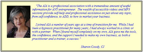testimonial hypnosis certification sharon