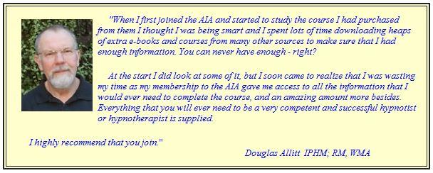 testimonial hypnosis certification doug